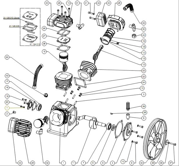Запчасти компрессора LB40 AirCast.