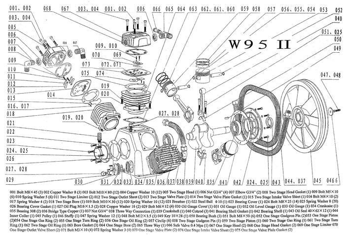 Запчасти компрессора W95
