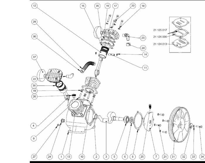 Запчасти компрессора LB24